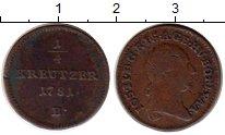 Изображение Монеты Европа Австрия 1/4 крейцера 1781 Медь VF
