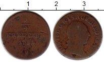 Изображение Монеты Австрия 1/4 крейцера 1781 Медь VF