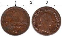 Изображение Монеты Австрия 1/4 крейцера 1790 Медь VF