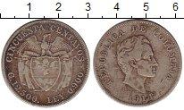 Изображение Монеты Колумбия 50 сентаво 1914 Серебро VF