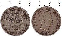Изображение Монеты Южная Америка Колумбия 50 сентаво 1916 Серебро VF
