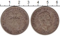 Изображение Монеты Колумбия 50 сентаво 1914 Серебро VF Симон Боливар