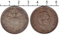 Изображение Монеты Колумбия 50 сентаво 1914 Серебро XF