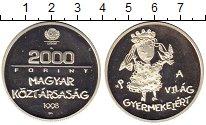 Изображение Монеты Европа Венгрия 2000 форинтов 1998 Серебро Proof-