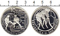 Изображение Монеты Сан-Марино 10 евро 2004 Серебро Proof Чемпионат мира по фу