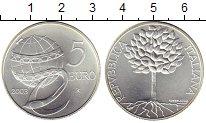 Изображение Монеты Италия 5 евро 2003 Серебро UNC