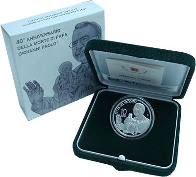 Изображение Подарочные монеты Европа Ватикан 10 евро 2018 Серебро Proof