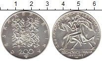 Изображение Монеты Европа Чехия 200 крон 1997 Серебро UNC
