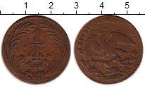 Изображение Монеты Северная Америка Мексика 1/4 реала 1833 Медь VF