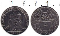 Изображение Монеты Ватикан 50 сентим 1950 Медно-никель XF