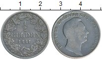 Изображение Монеты Германия Баден 1/2 гульдена 1841 Серебро VF