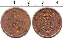 Изображение Монеты ЮАР 5 центов 2008 Бронза XF