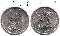 Изображение Монеты ЮАР 10 центов 1988 Медно-никель UNC-