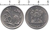 Изображение Монеты Африка ЮАР 20 центов 1987 Медно-никель UNC-