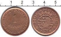 Изображение Монеты Мозамбик 1 эскудо 1974 Бронза XF
