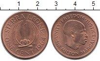 Изображение Монеты Сьерра-Леоне 1 цент 1964 Бронза UNC-