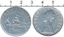 Изображение Монеты Европа Италия 500 лир 1958 Серебро XF