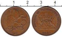 Изображение Монеты Тринидад и Тобаго 5 центов 1981 Бронза XF
