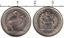 Изображение Монеты Африка ЮАР 5 центов 1988 Медно-никель XF