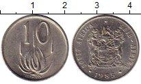 Изображение Монеты Африка ЮАР 10 центов 1985 Медно-никель XF