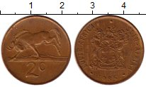Изображение Монеты ЮАР 2 цента 1985 Бронза XF