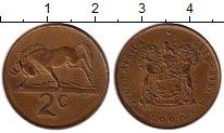 Изображение Монеты ЮАР 2 цента 1990 Бронза XF