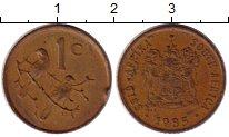 Изображение Монеты ЮАР 1 цент 1985 Бронза XF