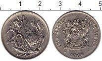 Изображение Монеты Африка ЮАР 20 центов 1989 Медно-никель XF