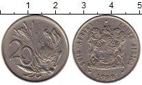 Изображение Монеты ЮАР 20 центов 1988 Медно-никель XF