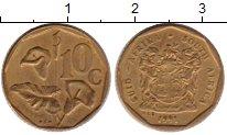 Изображение Монеты Африка ЮАР 10 центов 1991 Латунь XF