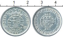 Изображение Монеты Африка Мозамбик 5 эскудо 1960 Серебро XF