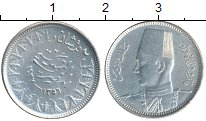Изображение Монеты Африка Египет 2 пиастра 1937 Серебро XF