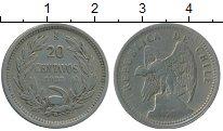 Изображение Монеты Южная Америка Чили 20 сентаво 1933 Медно-никель XF