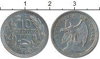 Изображение Монеты Южная Америка Чили 10 сентаво 1937 Медно-никель XF
