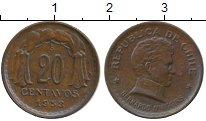 Изображение Монеты Чили 20 сентаво 1953 Бронза XF
