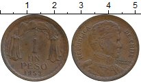 Изображение Монеты Южная Америка Чили 1 песо 1953 Бронза XF