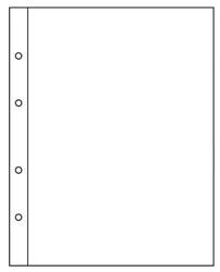 Изображение Аксессуары для монет Numis Лист Numis NH01-Set для бон c картонными разделителями 0   Лист системы NUMIS д