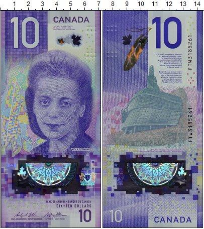 Изображение Банкноты Канада 10 долларов 2018  UNC