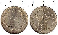 Изображение Монеты Азия Турция 1000 лир 1990 Медно-никель UNC-