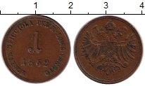 Изображение Монеты Европа Ломбардия 1 сентесимо 1862 Медь XF