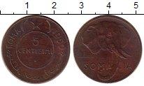 Изображение Монеты Африка Сомали 5 сентесим 1950 Бронза XF