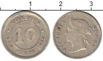 Изображение Монеты Африка Маврикий 10 центов 1877 Серебро VF
