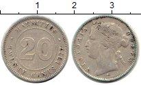 Изображение Монеты Африка Маврикий 20 центов 1877 Серебро VF