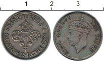 Изображение Монеты Африка Маврикий 1/4 рупии 1950 Медно-никель VF