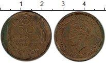 Изображение Монеты Цейлон 50 центов 1943 Латунь VF