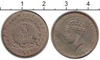 Изображение Монеты Западная Африка 3 пенса 1941 Медно-никель VF