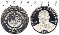 Изображение Монеты Либерия 20 долларов 2000 Серебро Proof- 36-й президент США Л