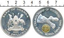 Изображение Монеты Уганда 1000 шиллингов 2001 Серебро Proof-