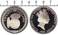 Изображение Монеты Северная Америка Виргинские острова 20 долларов 1985 Серебро Proof-