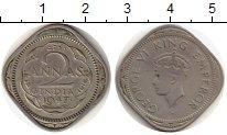 Изображение Монеты Индия 2 анны 1947 Медно-никель VF Георг VI